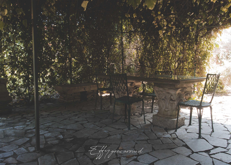 gazebo di rampicanti nel giardino di via XX Settembre 155 a Ferrara per Interno Verde