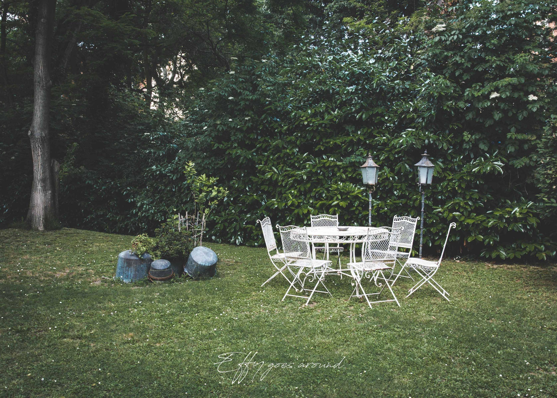 set da giardino a Palazzo Spisani di Ferrara per Interno Verde