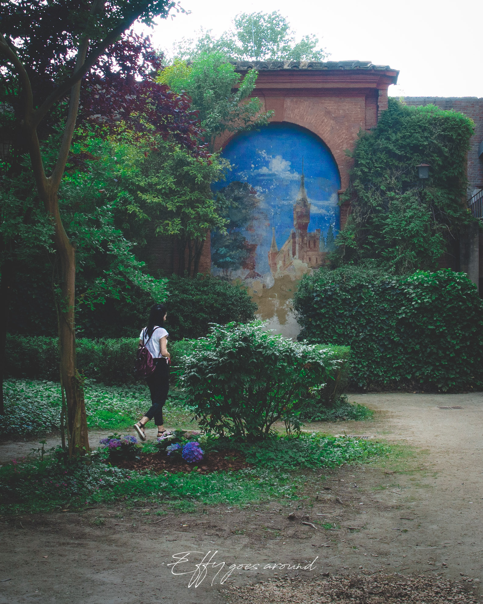 pittura murale a Palazzo Calcagnini di Ferrara per Interno Verde